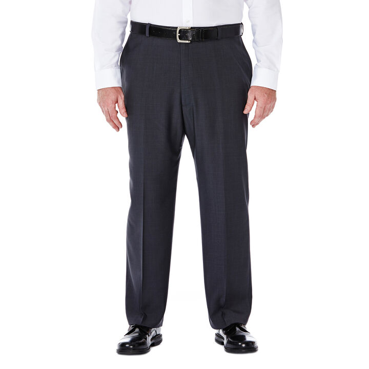 Big & Tall E-CLO™ Stria Dress Pant, Medium Grey