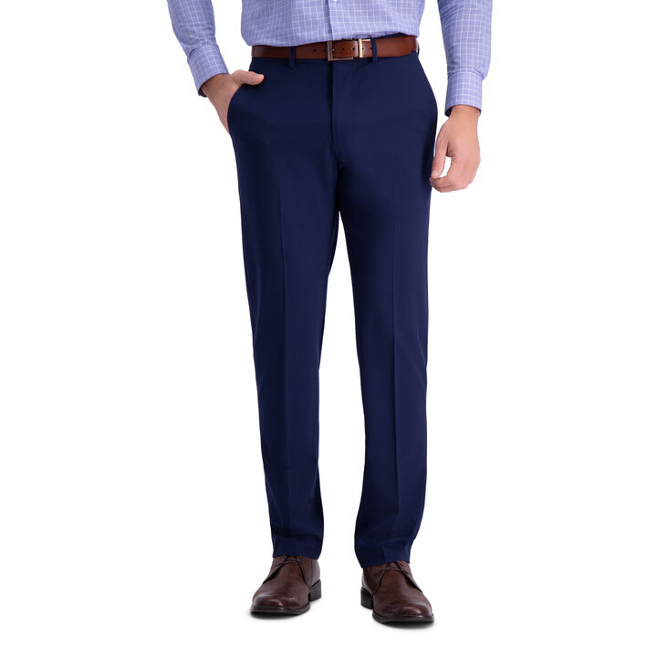 J.M. Haggar 4 Way Stretch Dress Pant, Bright Blue open image in new window
