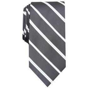 Brogan Stripe Tie, Graphite