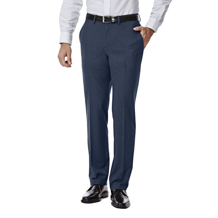 JM Haggar Slim 4 Way Stretch Suit Pant, Blue open image in new window