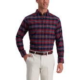 Medium Plaid Flannel Shirt, Navy 1