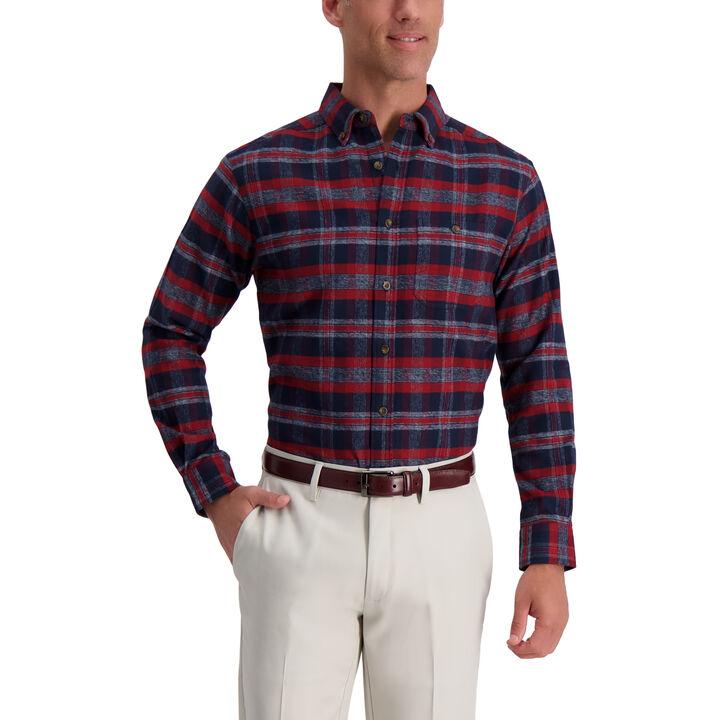 Medium Plaid Flannel Shirt, Navy