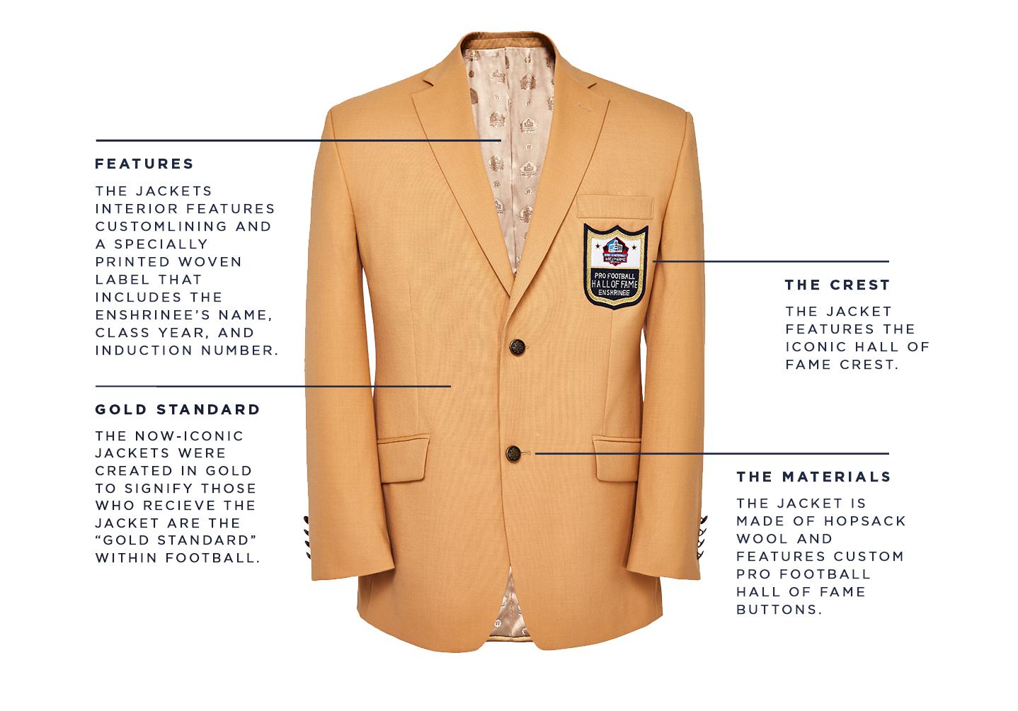 Haggar Pro Football Hall of Fame Gold Jacket