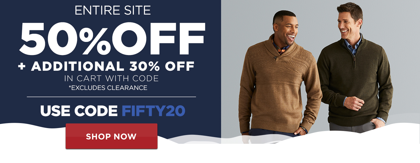 50% off Entire Site + additional 30% off in cart w/ code