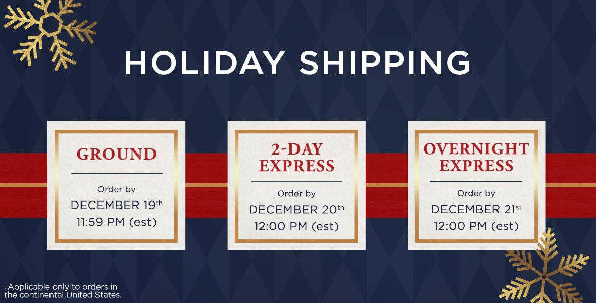 Haggar Holiday Shipping
