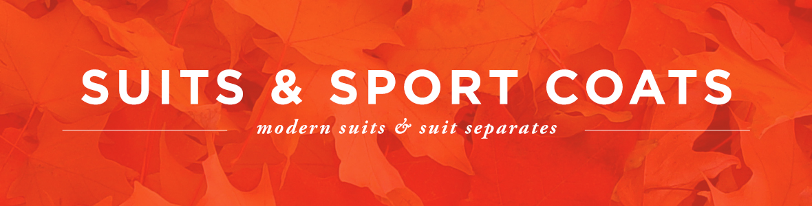 Suits and Sport Coats Category Banner