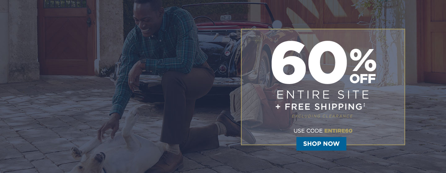 60% off Entire Site + Free Shipping