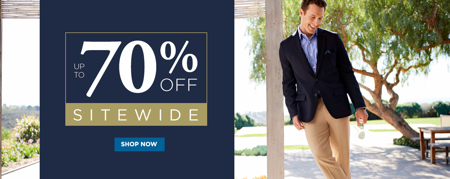 Up to 70% off Sitewide