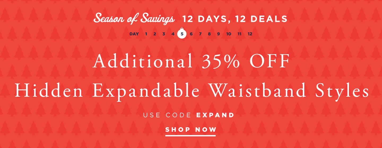 35% Off Expandable Waist Pants