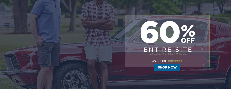 60% off Entire Site