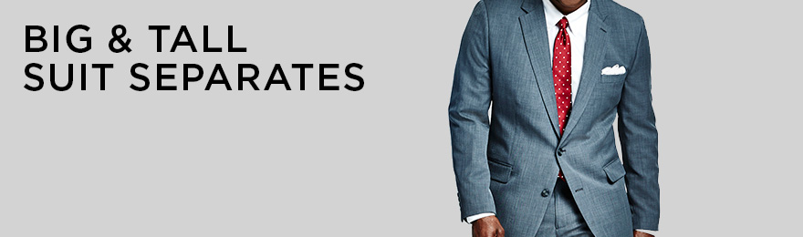 Big & Tall Suit Separates Banner