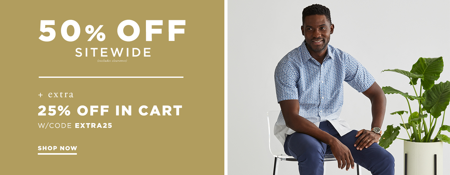 50% off Sitewide + 25% off