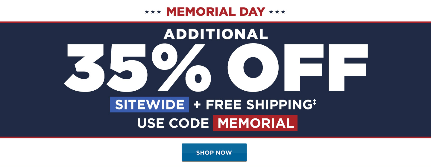 35% off Sitewide + Free Shipping