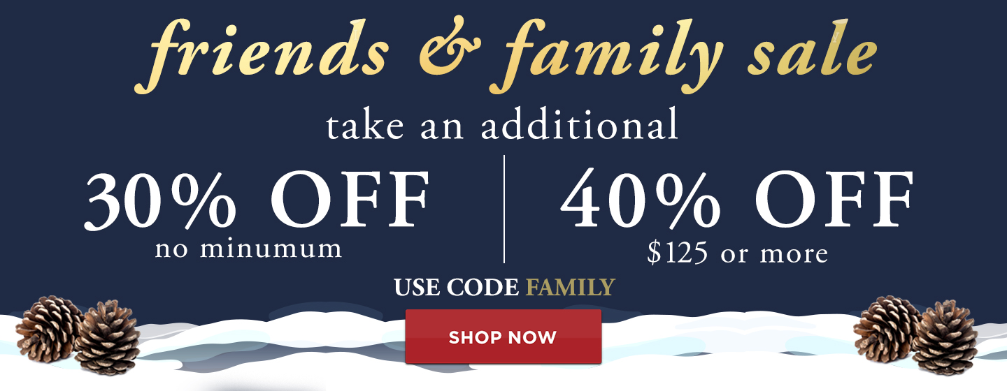 Additional 30% off no minimum, 40% off $125+