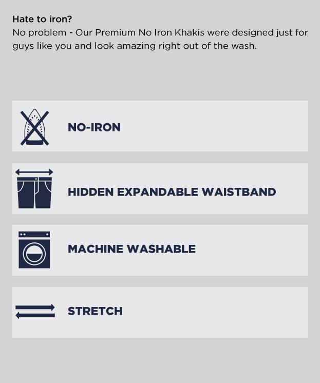 Learn More Premium No Iron Khaki