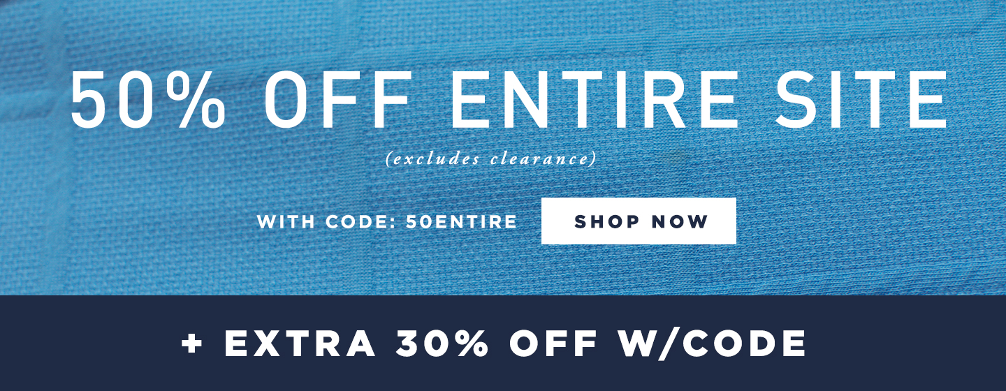 50% off Entire Site (excludes clearance) + adtl 30% off in Cart w/ code