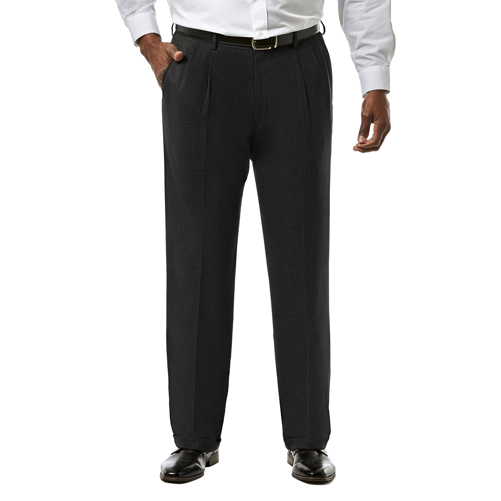 Haggar Mens Tall J.m Premium Stretch Classic Fit Pleat Front Pant Haggar Men/'s Tailored HY91182