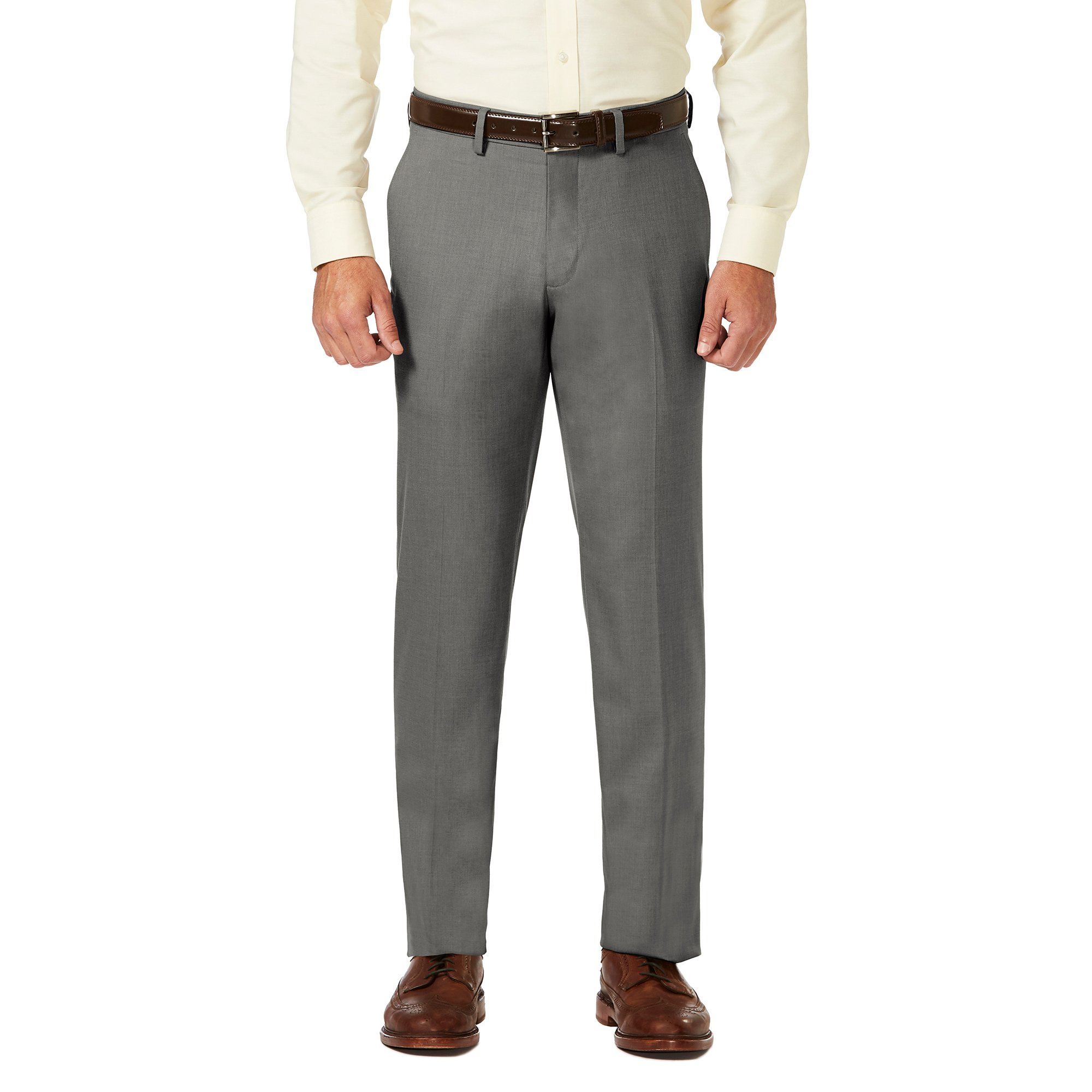 Mens Classic Pleated Fit Chino Pants-AN-34Wx34L