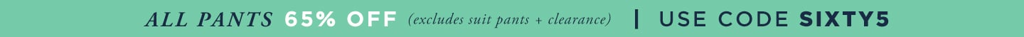 65% off Pants, Tops and Shorts