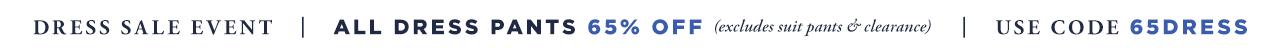 65% off Dress Pants