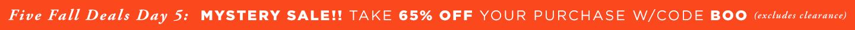 Five Fall Deals - 65% Off Entire